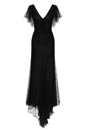 Женское платье-макси ALESSANDRA RICH черного цвета, арт. FAB2053-P2768 | Фото 1