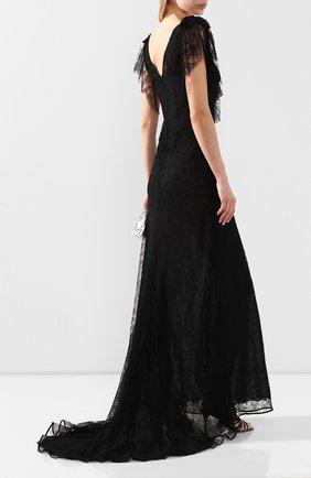 Женское платье-макси ALESSANDRA RICH черного цвета, арт. FAB2053-P2768 | Фото 2