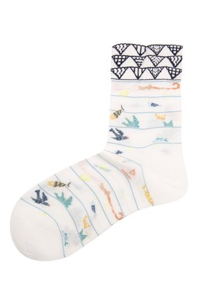 Женские хлопковые носки ANTIPAST белого цвета, арт. AM-724 | Фото 1