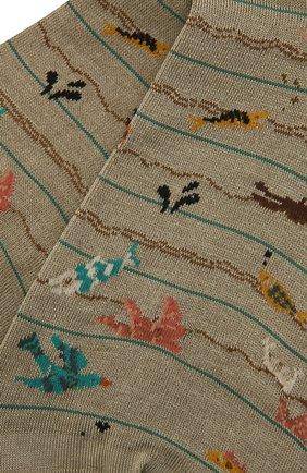 Женские хлопковые носки ANTIPAST хаки цвета, арт. AM-724 | Фото 2