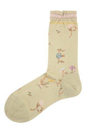 Женские хлопковые носки ANTIPAST салатового цвета, арт. AM-730 | Фото 1