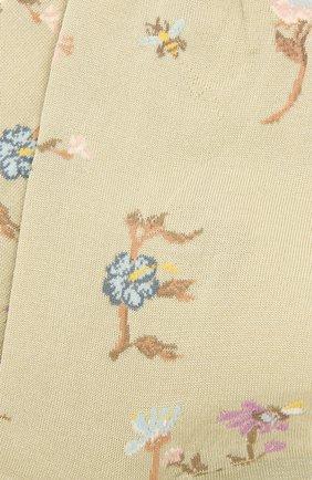 Женские хлопковые носки ANTIPAST салатового цвета, арт. AM-730 | Фото 2
