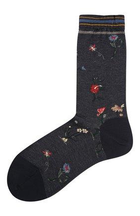 Женские хлопковые носки ANTIPAST синего цвета, арт. AM-730 | Фото 1
