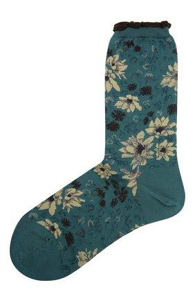 Женские хлопковые носки ANTIPAST синего цвета, арт. AM-732 | Фото 1