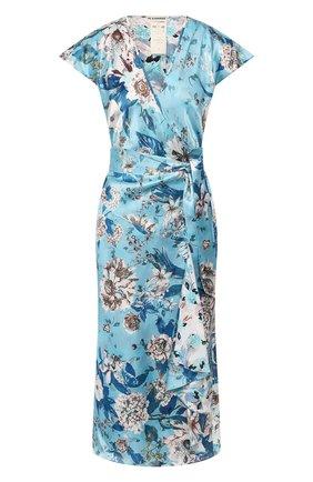 Женское шелковое платье DIANE VON FURSTENBERG голубого цвета, арт. 14515DVF | Фото 1