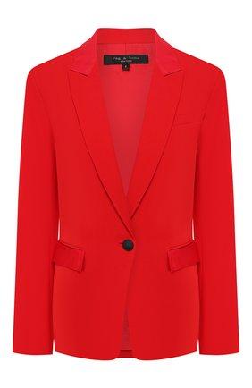 Женский жакет RAG&BONE красного цвета, арт. WAW20S4024M424   Фото 1