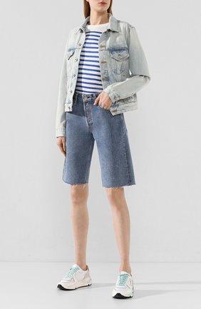 Женские джинсовые шорты RAG&BONE синего цвета, арт. WDD20S1905B1MI | Фото 2
