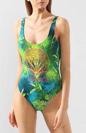 Женский слитный купальник VERSACE зеленого цвета, арт. ABD87000/A234851 | Фото 2