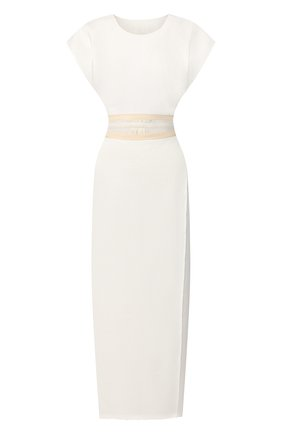 Женское льняное платье UMA WANG белого цвета, арт. P0 W UW5046 | Фото 1