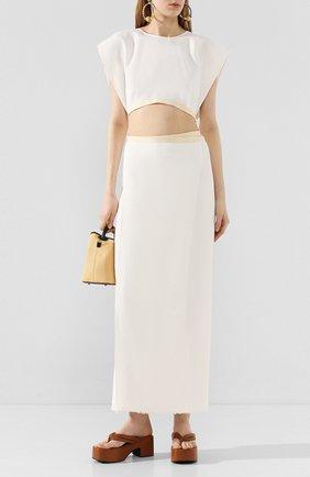 Женское льняное платье UMA WANG белого цвета, арт. P0 W UW5046 | Фото 2