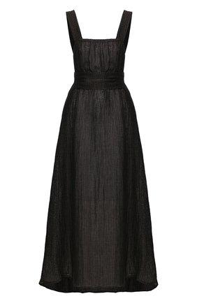 Женское льняное платье LE KASHA темно-серого цвета, арт. ASSI0UT   Фото 1