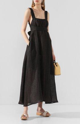 Женское льняное платье LE KASHA темно-серого цвета, арт. ASSI0UT   Фото 2