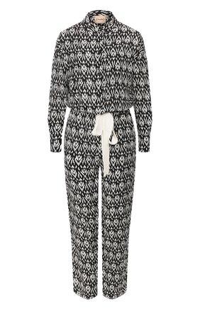 Женский шелковый комбинезон NUDE черно-белого цвета, арт. 1103769/JUMPSUIT | Фото 1