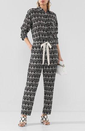 Женский шелковый комбинезон NUDE черно-белого цвета, арт. 1103769/JUMPSUIT | Фото 2
