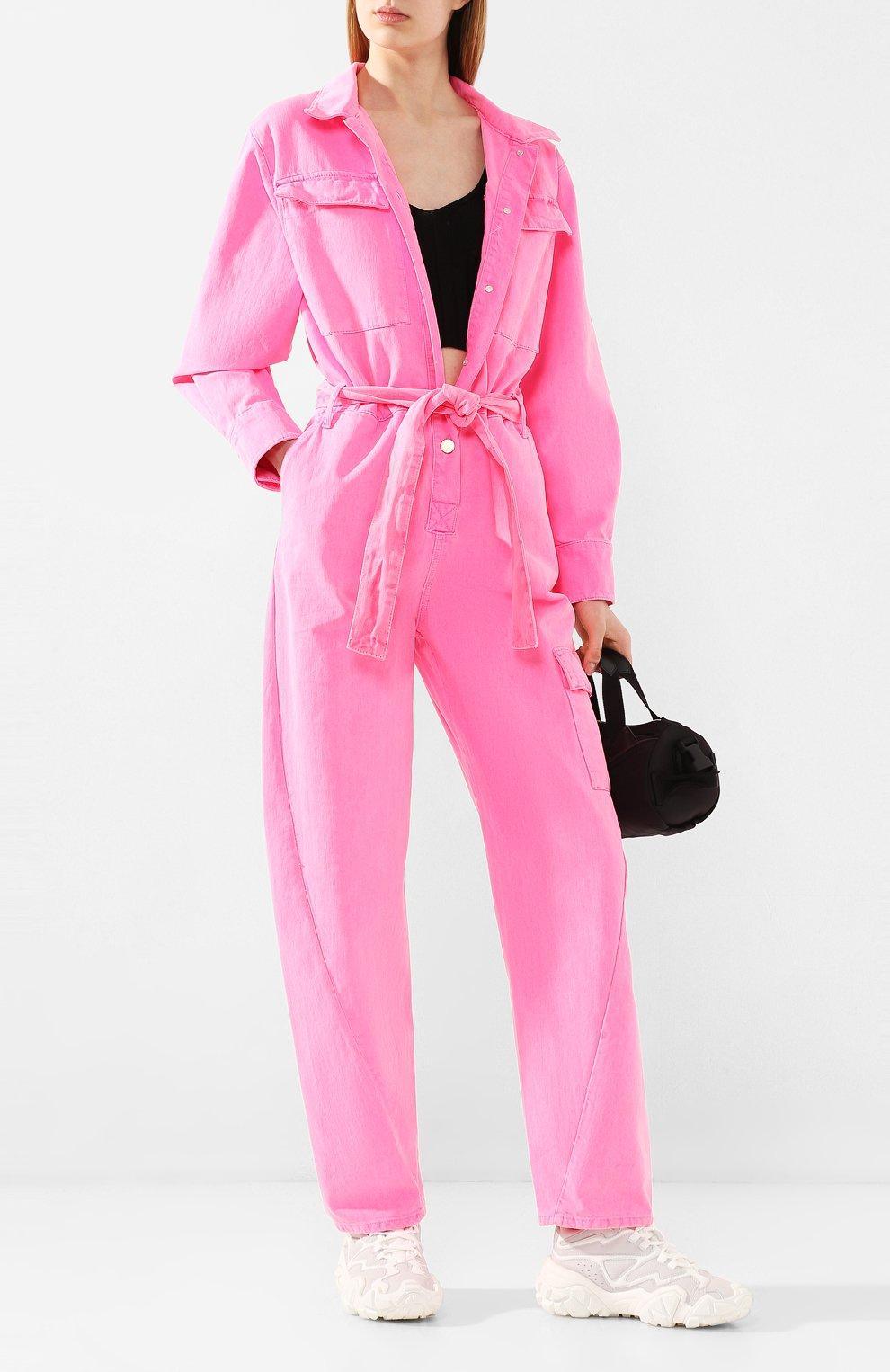 Женский джинсовый комбинезон ESSENTIEL ANTWERP розового цвета, арт. VADID | Фото 2