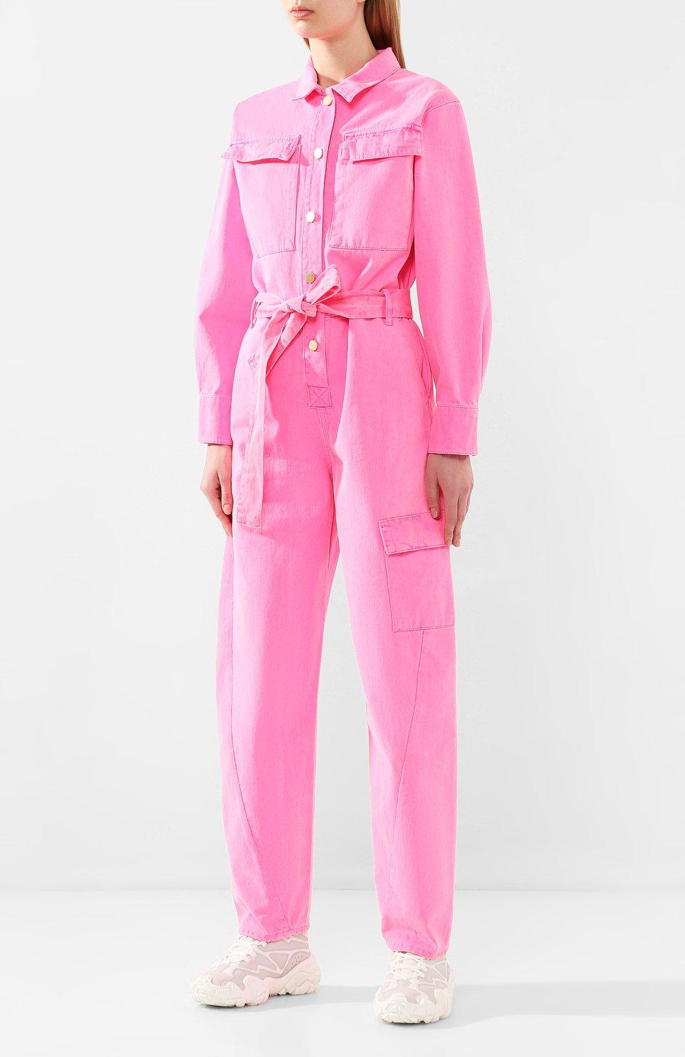 Женский джинсовый комбинезон ESSENTIEL ANTWERP розового цвета, арт. VADID | Фото 3