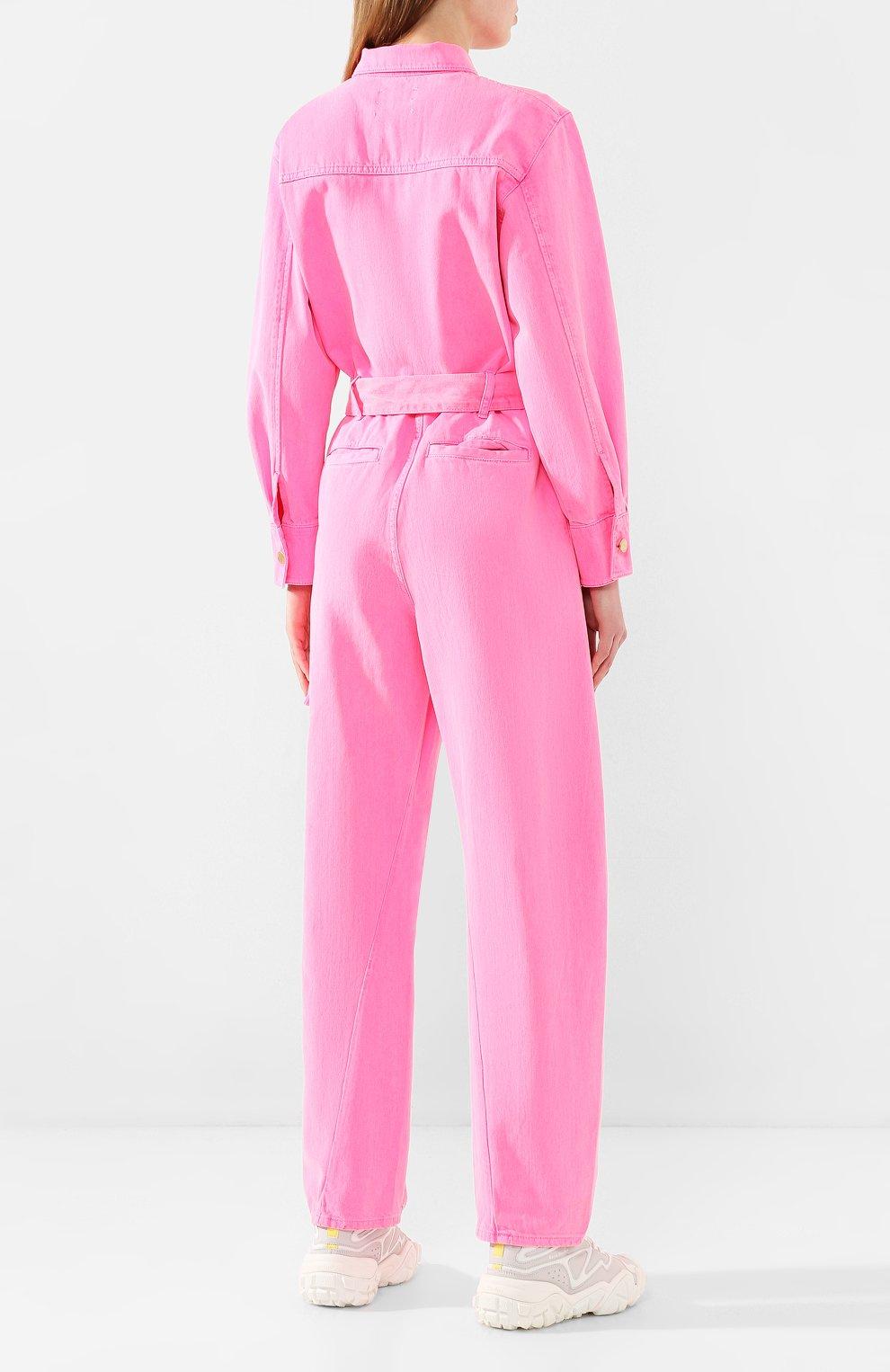 Женский джинсовый комбинезон ESSENTIEL ANTWERP розового цвета, арт. VADID | Фото 4