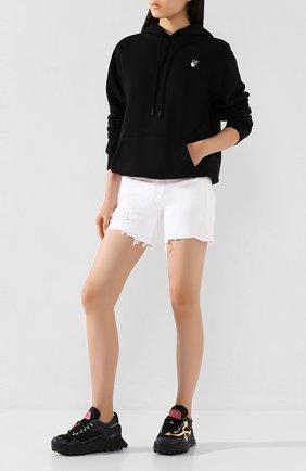 Женские джинсовые шорты 3X1 белого цвета, арт. WS0070952/B PEARL | Фото 2