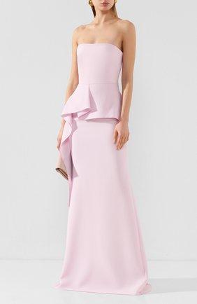 Женское платье-макси ROLAND MOURET розового цвета, арт. EW20/S0977/F4044 | Фото 2