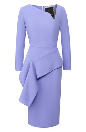 Женское шерстяное платье ROLAND MOURET синего цвета, арт. EW20/S0976/F4044/LINING100SE | Фото 1
