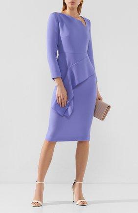 Женское шерстяное платье ROLAND MOURET синего цвета, арт. EW20/S0976/F4044/LINING100SE | Фото 2