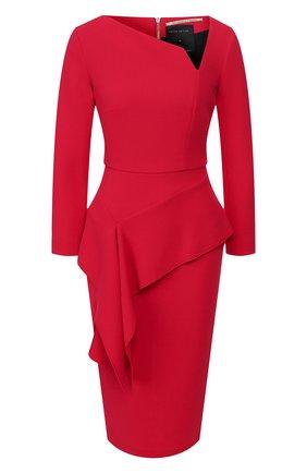 Женское шерстяное платье ROLAND MOURET красного цвета, арт. EW20/S0976/F4044 | Фото 1