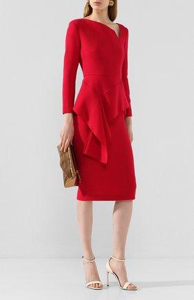Женское шерстяное платье ROLAND MOURET красного цвета, арт. EW20/S0976/F4044 | Фото 2