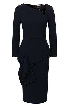 Женское шерстяное платье ROLAND MOURET темно-синего цвета, арт. EW20/S0976/F4044 | Фото 1