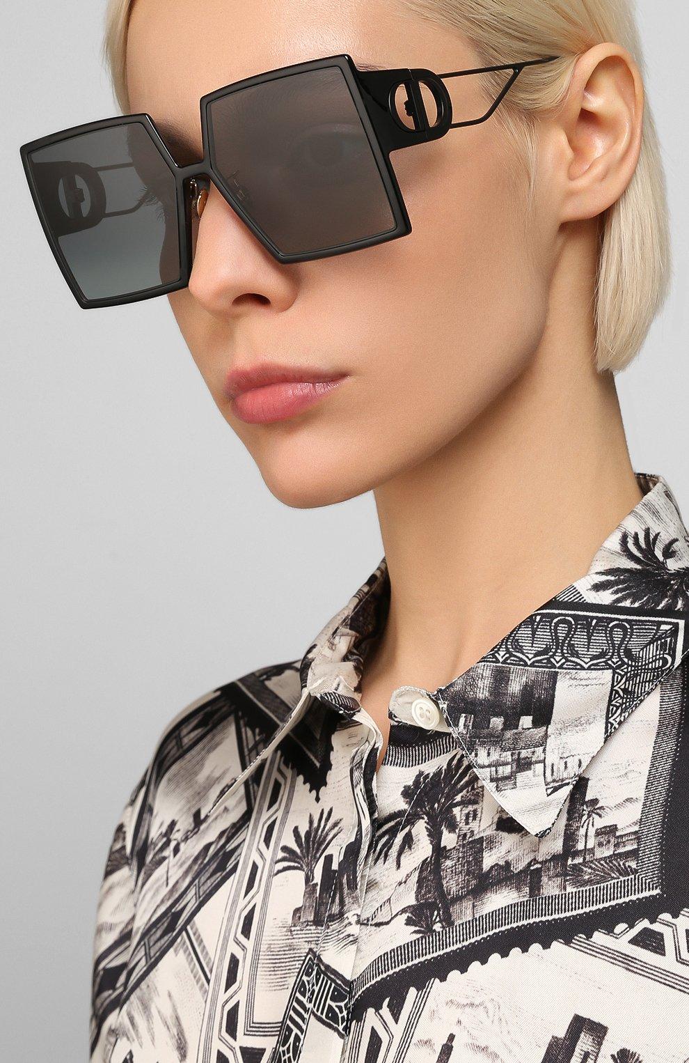 Женские солнцезащитный очки DIOR черного цвета, арт. 30M0NTAIGNE 807 1I | Фото 2