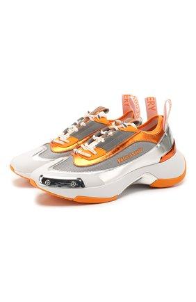 Мужские комбинированные кроссовки recovery PALM ANGELS оранжевого цвета, арт. PMIA035S205930019118 | Фото 1