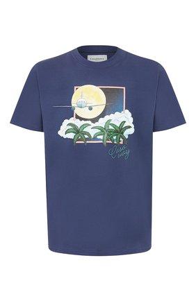 Мужская хлопковая футболка CASABLANCA темно-синего цвета, арт. MS20-TS-001 CASA AIRWAYS | Фото 1