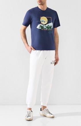 Мужская хлопковая футболка CASABLANCA темно-синего цвета, арт. MS20-TS-001 CASA AIRWAYS | Фото 2