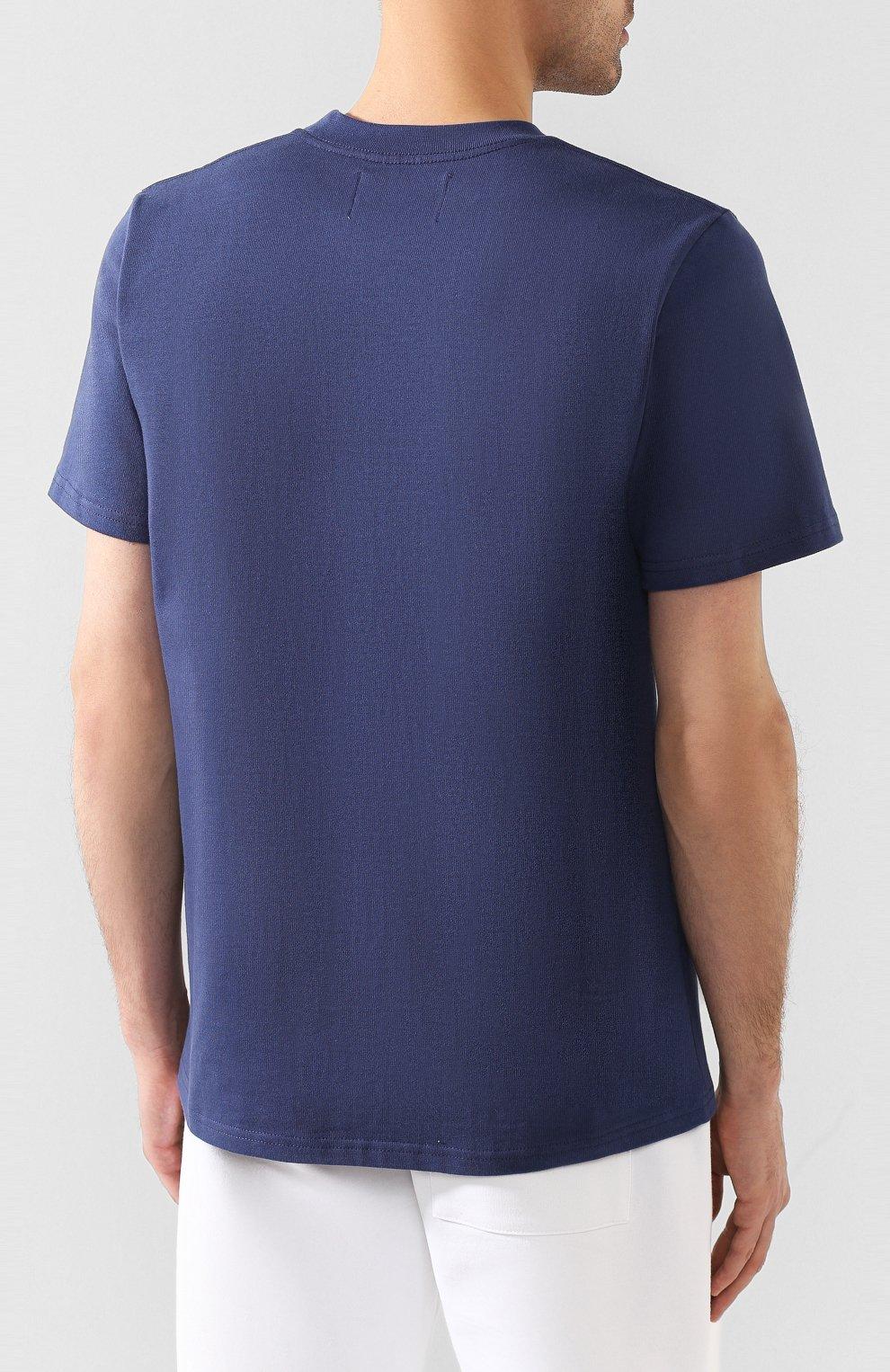 Мужская хлопковая футболка CASABLANCA темно-синего цвета, арт. MS20-TS-001 CASA AIRWAYS | Фото 4