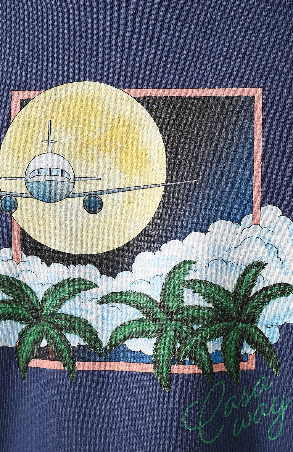 Мужская хлопковая футболка CASABLANCA темно-синего цвета, арт. MS20-TS-001 CASA AIRWAYS | Фото 5