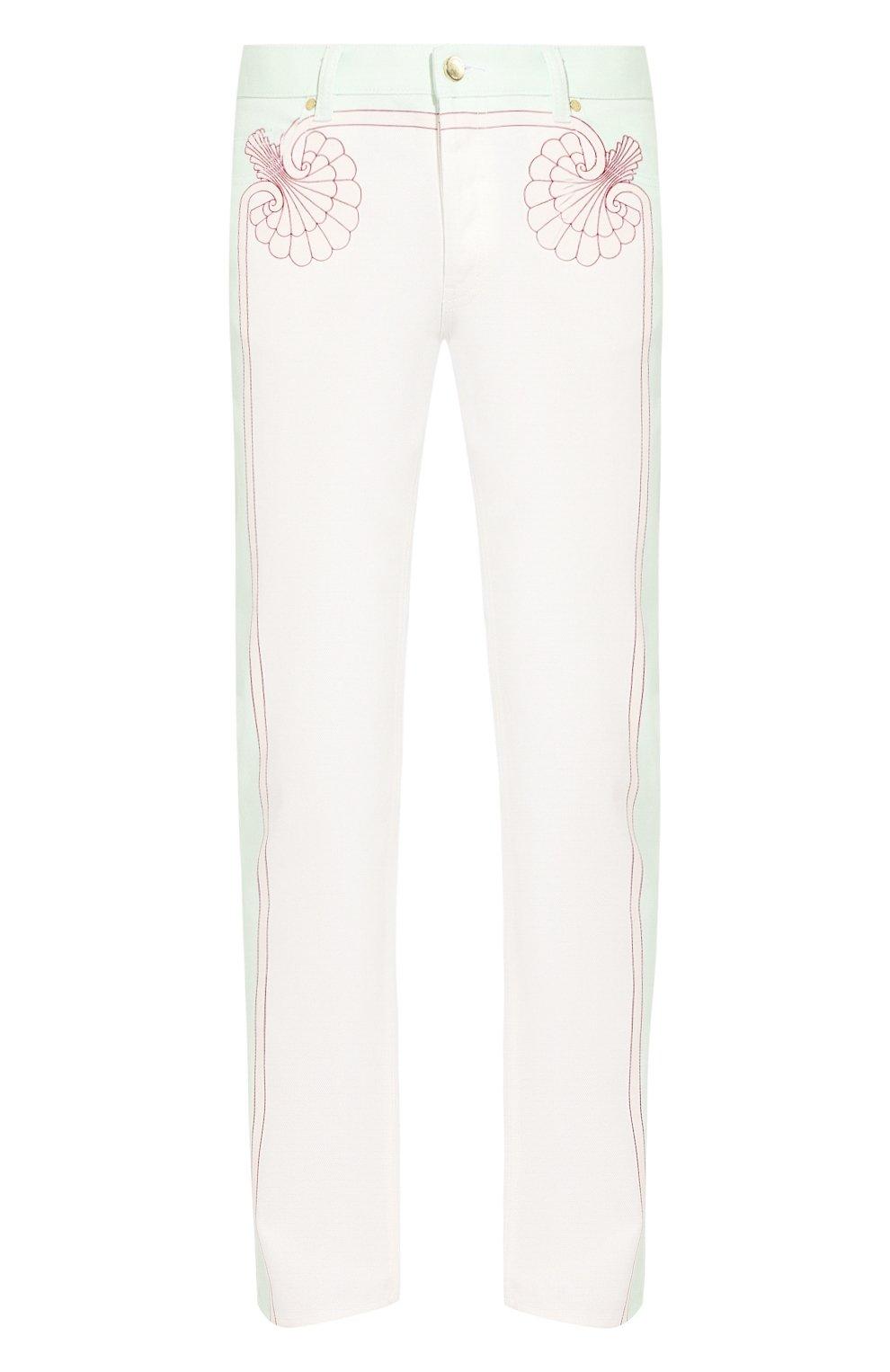 Мужские джинсы CASABLANCA белого цвета, арт. MS20-TR-002 LES C0QUILLAGES JEANS   Фото 1