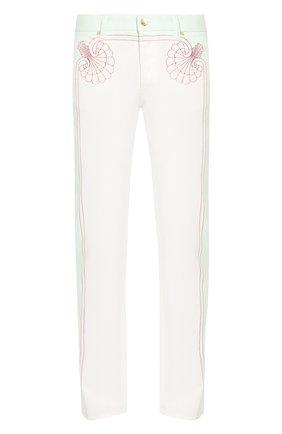 Мужские джинсы CASABLANCA белого цвета, арт. MS20-TR-002 LES C0QUILLAGES JEANS | Фото 1