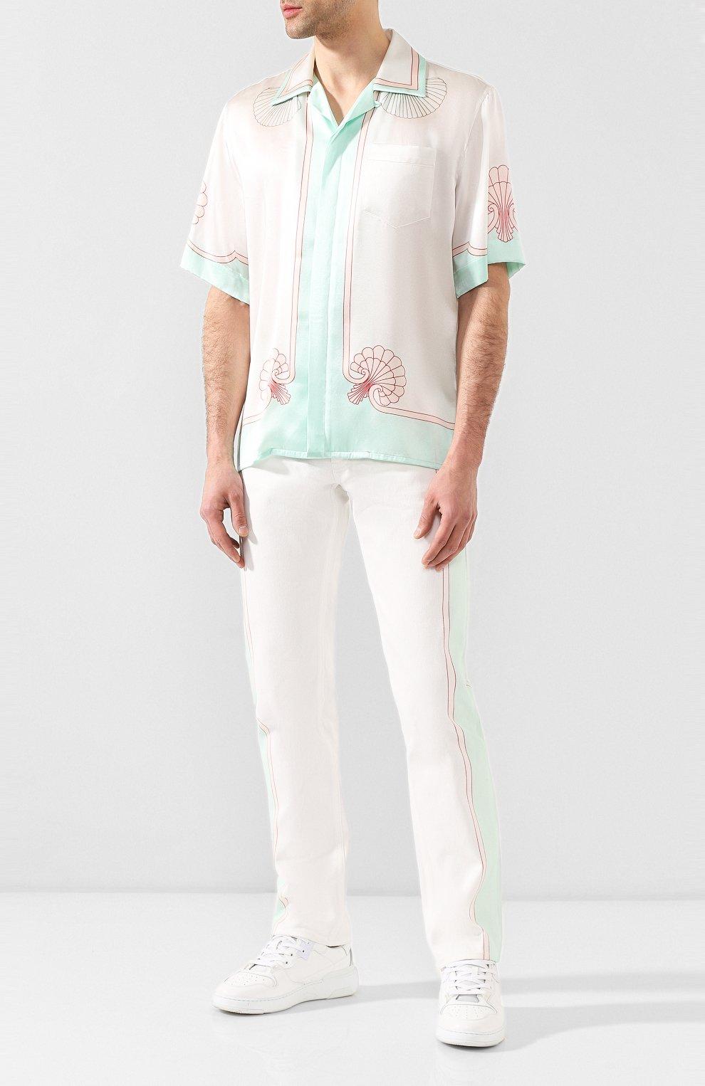 Мужские джинсы CASABLANCA белого цвета, арт. MS20-TR-002 LES C0QUILLAGES JEANS   Фото 2