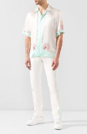 Мужские джинсы CASABLANCA белого цвета, арт. MS20-TR-002 LES C0QUILLAGES JEANS | Фото 2
