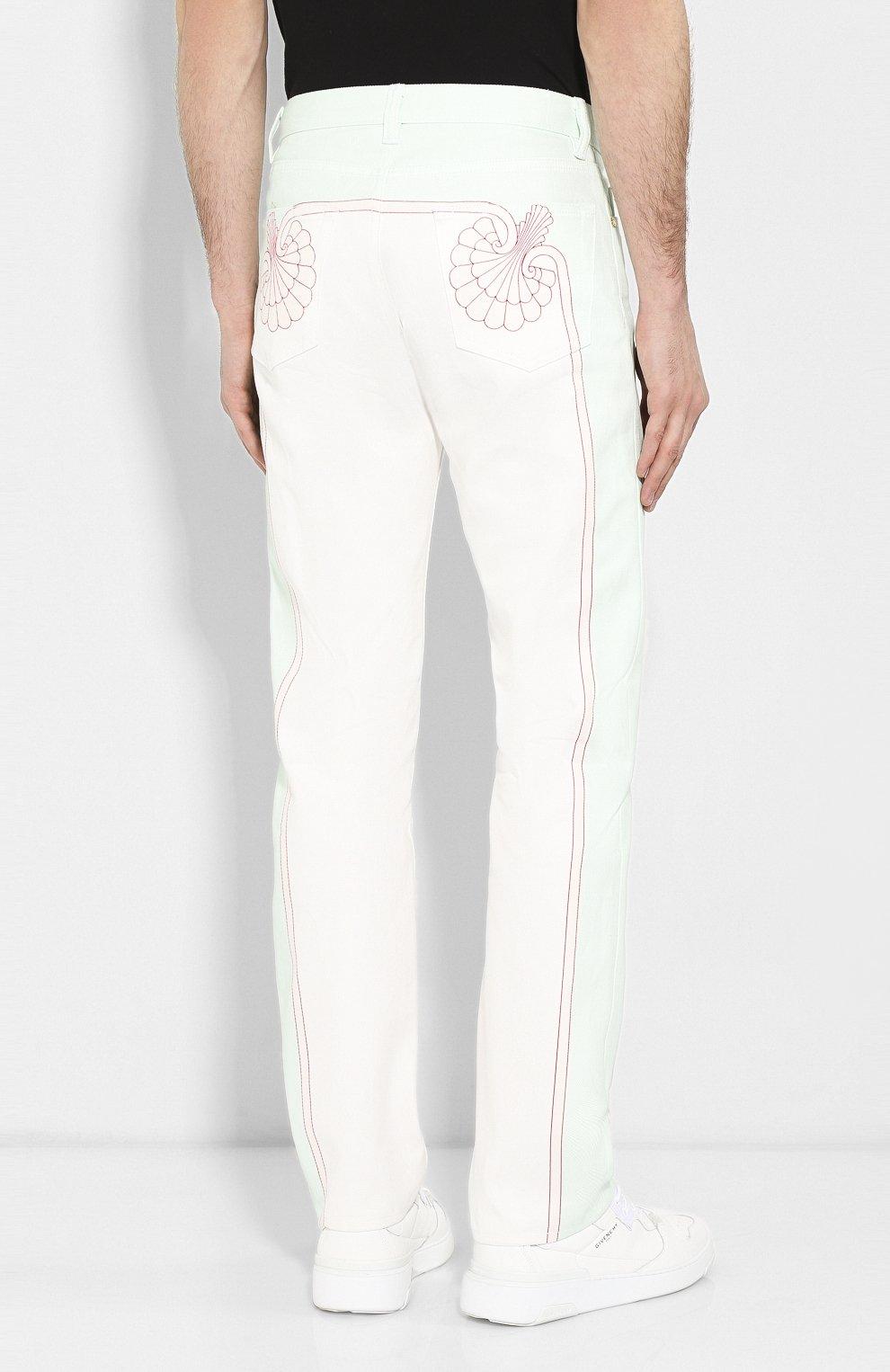 Мужские джинсы CASABLANCA белого цвета, арт. MS20-TR-002 LES C0QUILLAGES JEANS   Фото 4