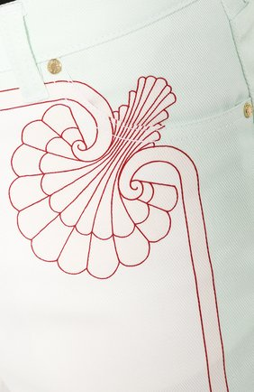 Мужские джинсы CASABLANCA белого цвета, арт. MS20-TR-002 LES C0QUILLAGES JEANS   Фото 5