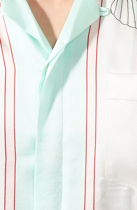 Мужская шелковая рубашка CASABLANCA белого цвета, арт. MS20-SH-003 SH0RT SLEEVE SHIRT LES C0QUILLAGES | Фото 5
