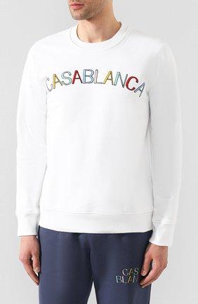 Мужской хлопковый свитшот CASABLANCA белого цвета, арт. MS20-JTP-001 CASA ARCH L0G0 | Фото 3