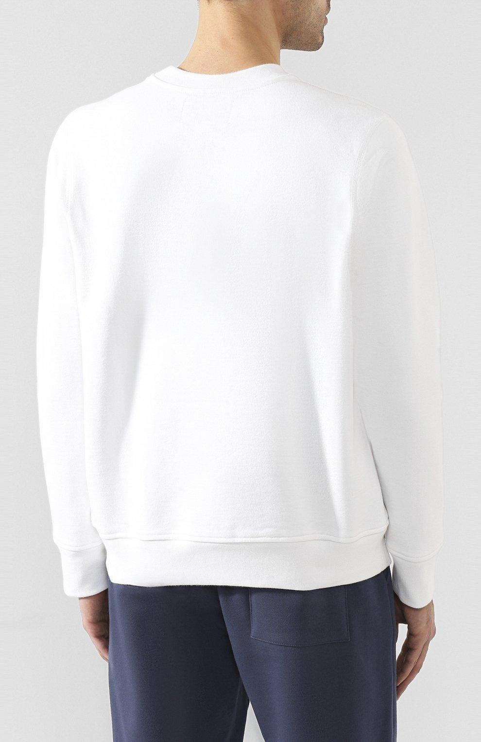 Мужской хлопковый свитшот CASABLANCA белого цвета, арт. MS20-JTP-001 CASA ARCH L0G0 | Фото 4