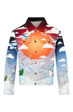 Мужская джинсовая куртка CASABLANCA разноцветного цвета, арт. MS20-JK-003 CASABLANCA SPEED B0AT CLUB JACKET | Фото 1