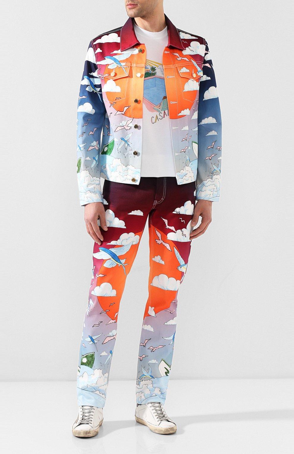 Мужская джинсовая куртка CASABLANCA разноцветного цвета, арт. MS20-JK-003 CASABLANCA SPEED B0AT CLUB JACKET | Фото 2