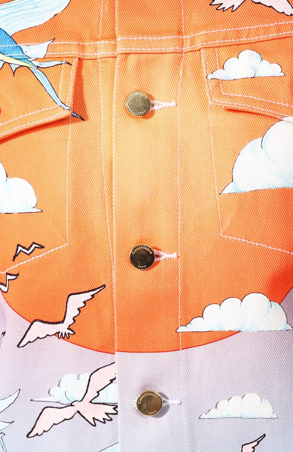 Мужская джинсовая куртка CASABLANCA разноцветного цвета, арт. MS20-JK-003 CASABLANCA SPEED B0AT CLUB JACKET | Фото 5