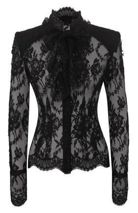 Женская хлопковая блузка DOLCE & GABBANA черного цвета, арт. F5L51T/HLMQJ | Фото 1