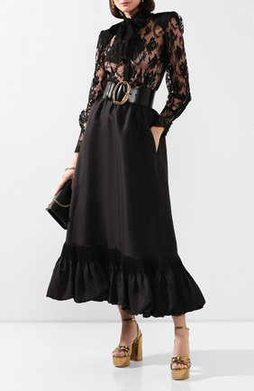 Женская хлопковая блузка DOLCE & GABBANA черного цвета, арт. F5L51T/HLMQJ | Фото 2