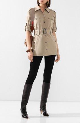 Женская хлопковая рубашка DOLCE & GABBANA бежевого цвета, арт. F5M48T/FU5K9 | Фото 2