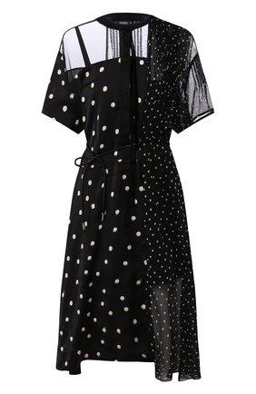 Женское платье в горох SACAI черного цвета, арт. 20-05060 | Фото 1
